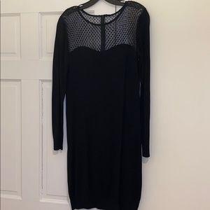 DIANE von FURSTENBERG knit sheer polka dot dress